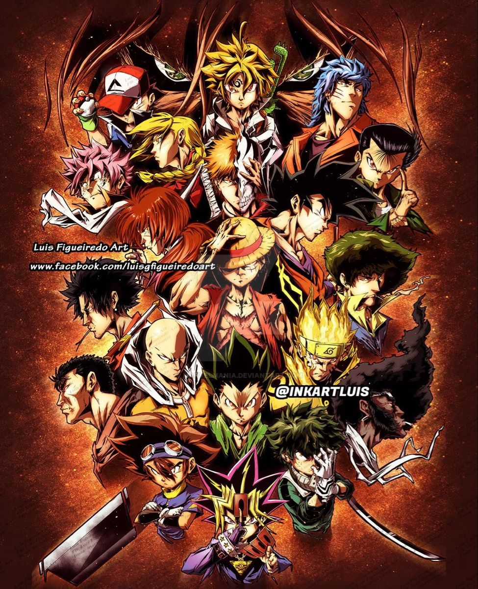 Favorite Main Anime Character By Marvelmania On Deviantart Anime Crossover All Anime Characters Anime Characters