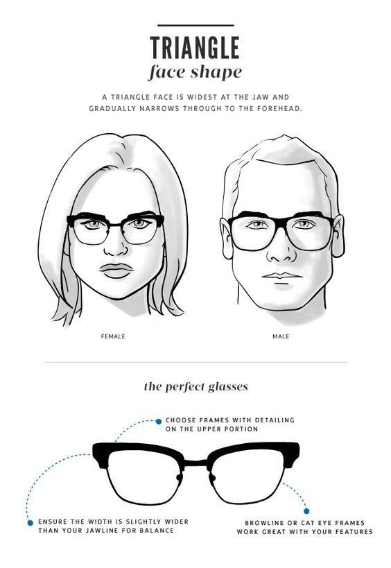 12 Glass frames for triangular face ideas | glasses for your face shape,  face shapes, glasses for face shape