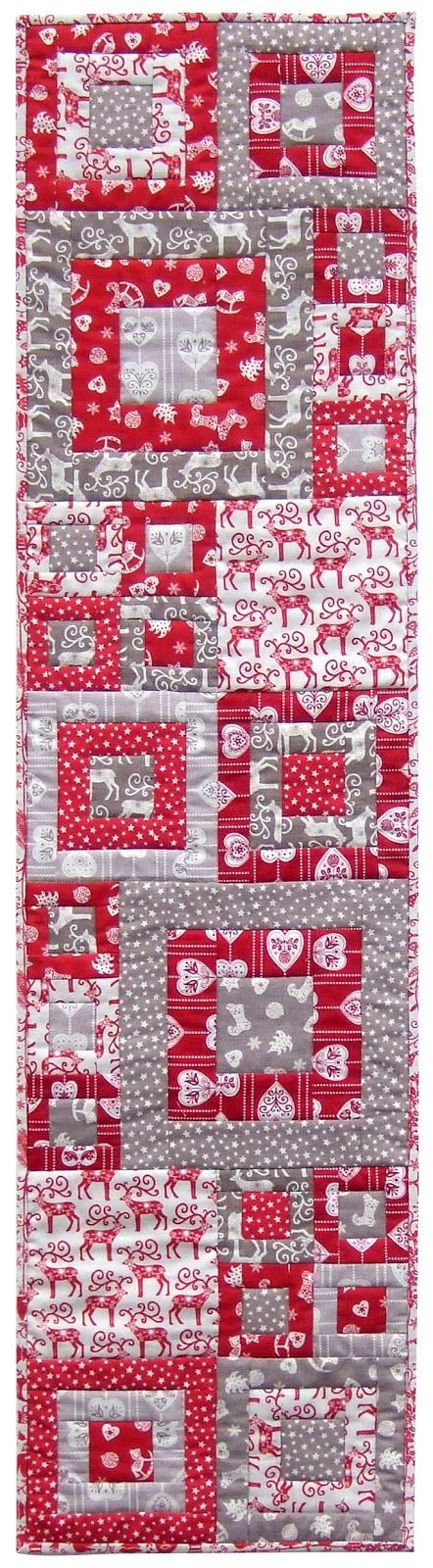 free pattern = Quilt Inspiration: Scandi Squares Christmas table ... : free valentine quilted table runner patterns - Adamdwight.com