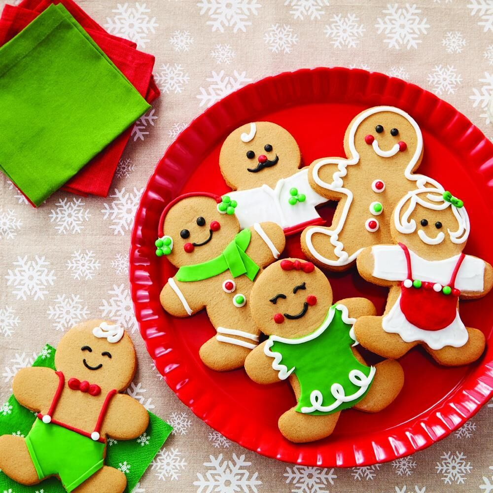Use this Gingerbread Cookie Kit to personalize cookies for