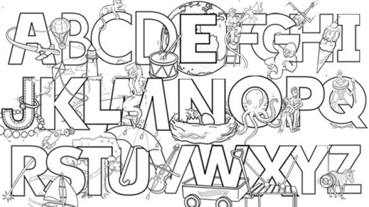 Educational english alphabet letters coloring pages