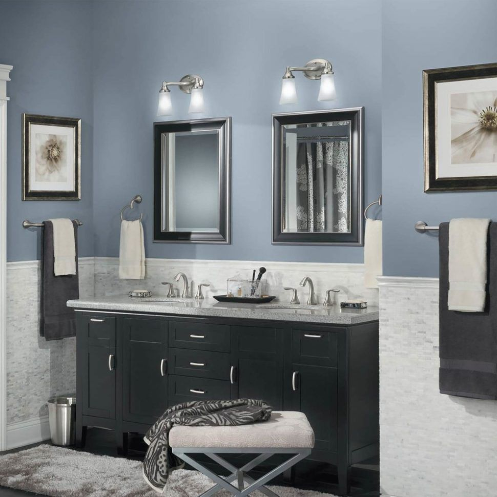 Bathrooms Design Paintrs For Bathrooms With Black And White Tiler Bathroom Almond Fixtures Best Bathroom Paint Colors Blue Bathroom Paint Bathroom Paint Colors