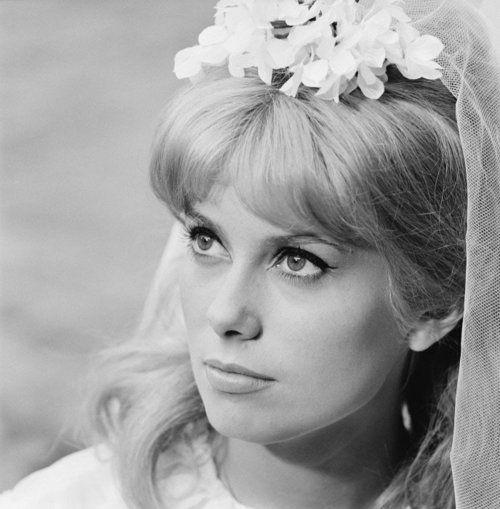 theswingingsixties:  Catherine Deneuve on the set of 'Le Vice et La Vertu', 1962.