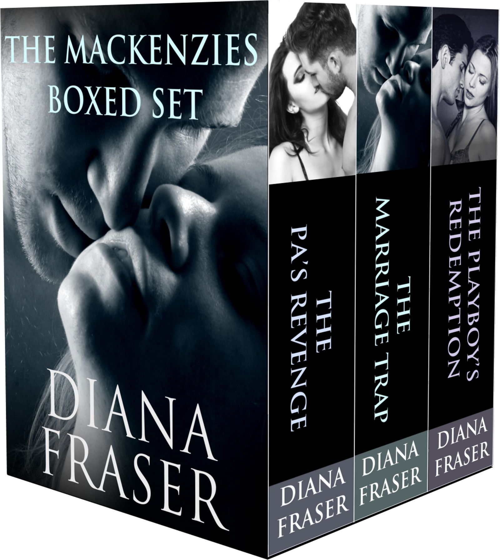 The Mackenzies Boxed Set contains:  Book 1—The PA's Revenge—A passionate tale of revenge,  Book 2—The Marriage Trap—A marriage of convenience forces two people to face their worst fears, and  Book 3—The Playboy's Redemption—A reunion story that pulls at the heart strings