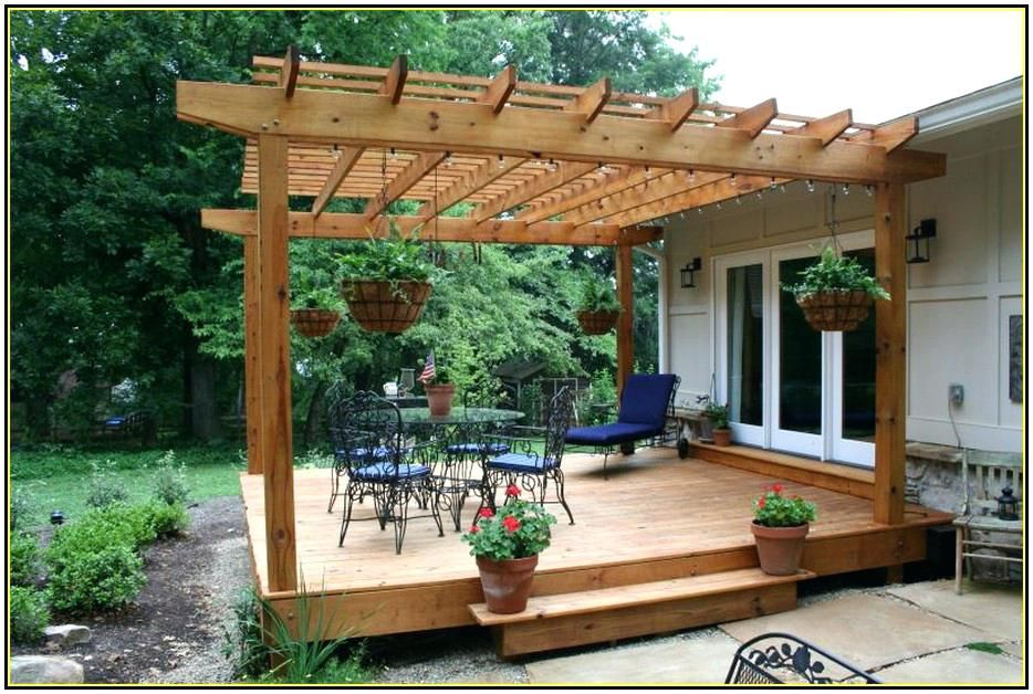 Wood Deck With Pergola Pergola Shade Ideas Deck Shade Ideas Design