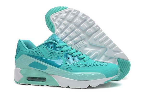 new products c9a27 d3f5e 303 Nike Air Max 90 Ultra Br Femme Homme Turquoise Bleu Blanc Pas Cher  portable a
