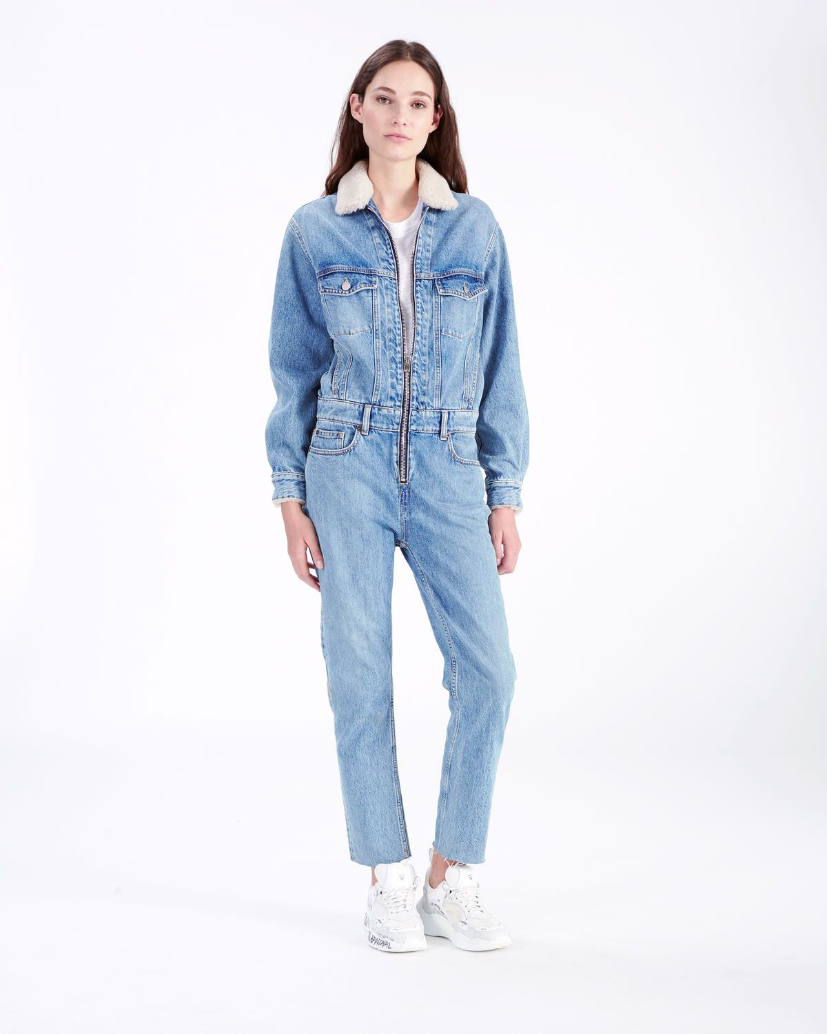 01373583c8d IRO - LEGEND JUMPSUIT DENIM BLUE