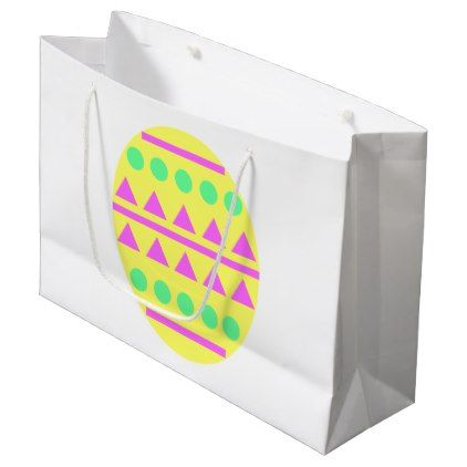 Yellow egg gift bag happy easter egg holiday family diy custom yellow egg gift bag happy easter egg holiday family diy custom personalize negle Gallery