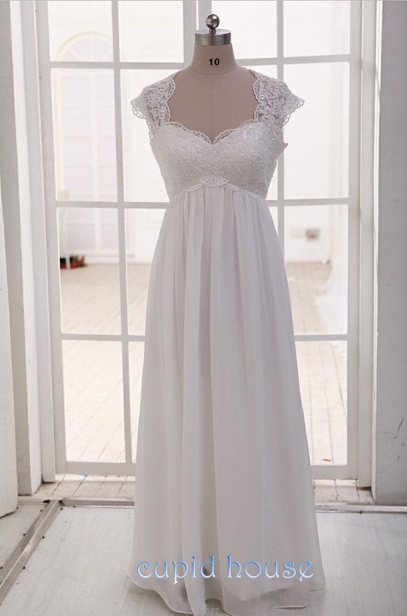 0c79f8658256d Plus Size Cap Sleeves Sweetheart Neck Cheap White Ivory Simple Floor-length  Long Lace Wedding Dress Lace Bridal Dress Wedding Gown 2014
