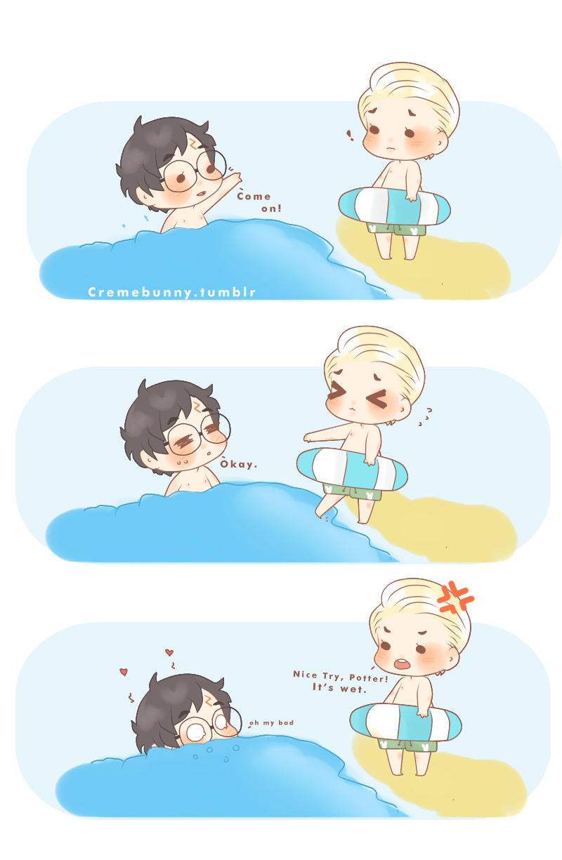 Chibi+Drarry+-+Wet+Water+by+Cremebunny deviantart com+on+@