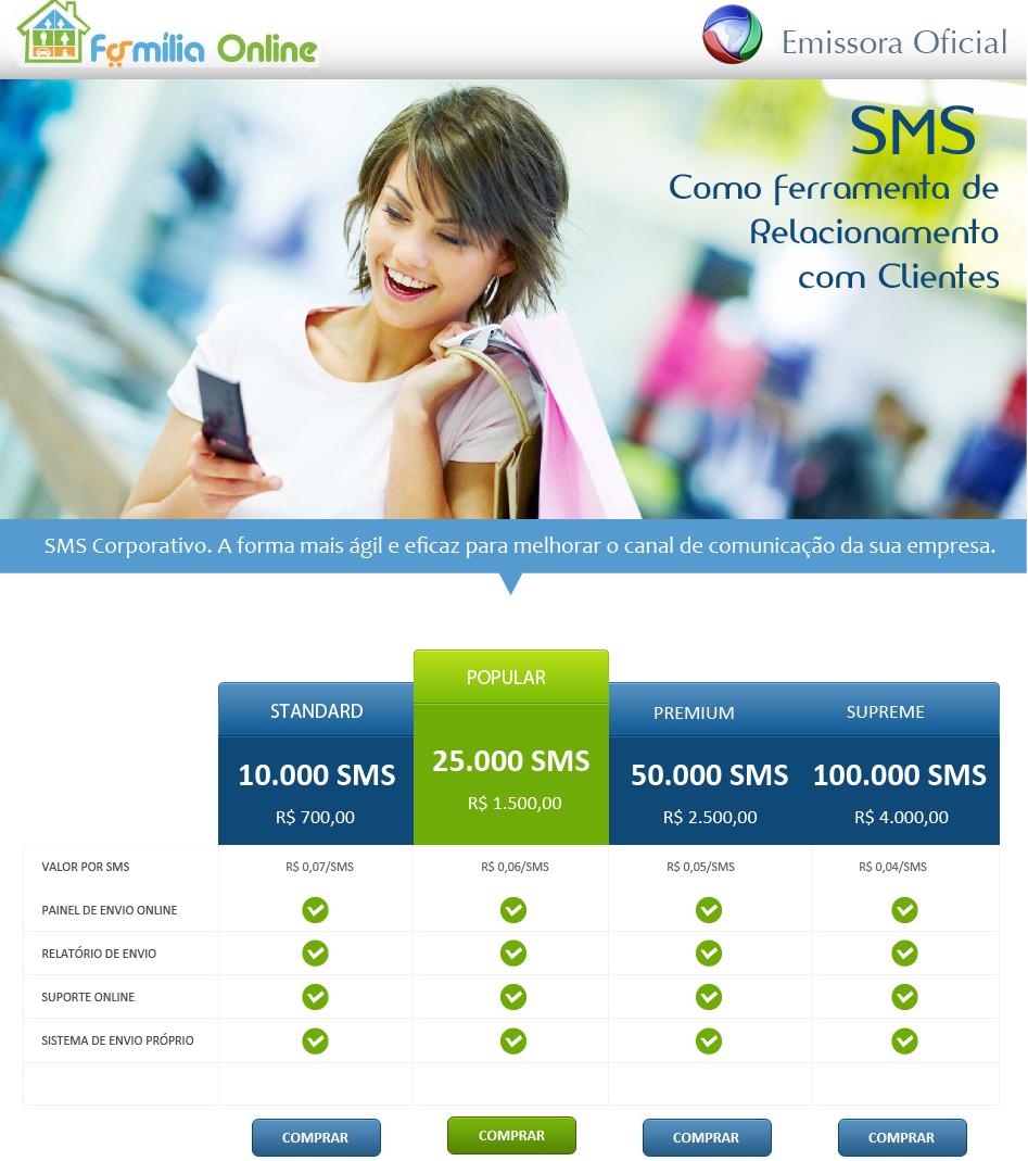 O melhor jeito de manter contato com seus clientes! Entrem em contato e enviem sms's!