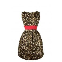 Rockabilly Leopard Print Dress