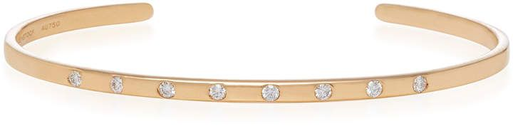 Sara Weinstock Rose Gold White Diamond Spaced Out Bangle Cuff