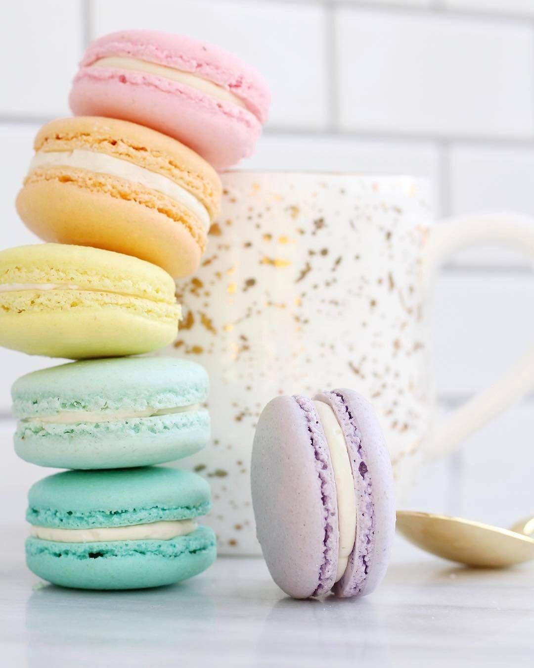 Rainbow macaron stack foodie macarons cake wallpaper - Pastel macaroons wallpaper ...