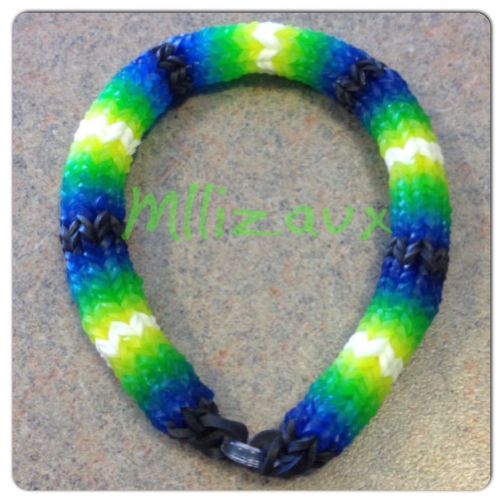 rainbow loom hexafish 6 pin fishtail bracelet rainbow