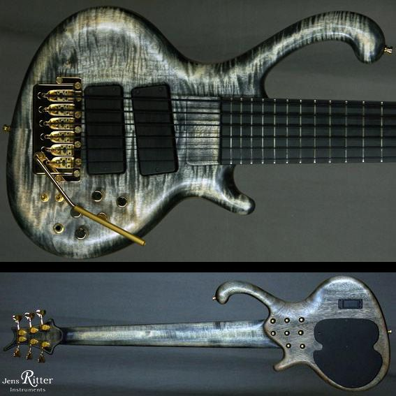 Roya 6-string with Worn Black Finish and Ritter BB1 Tremelo