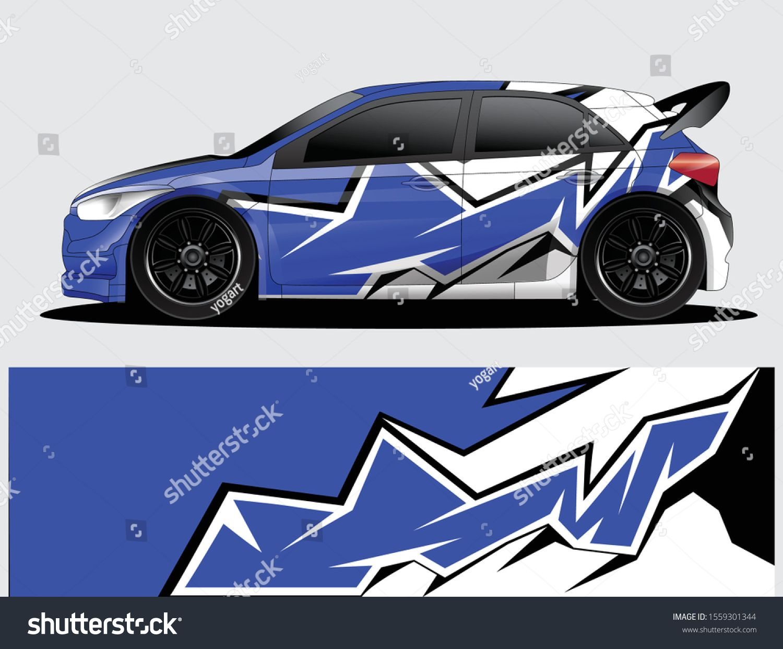 Rally Car Decal Graphic Wrap Vector Stock Vector Royalty Free 1559301344 Rally Car Car Decals Car [ 1242 x 1500 Pixel ]