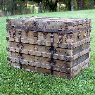 Panama-Canvas and Wood Vintage Trunk