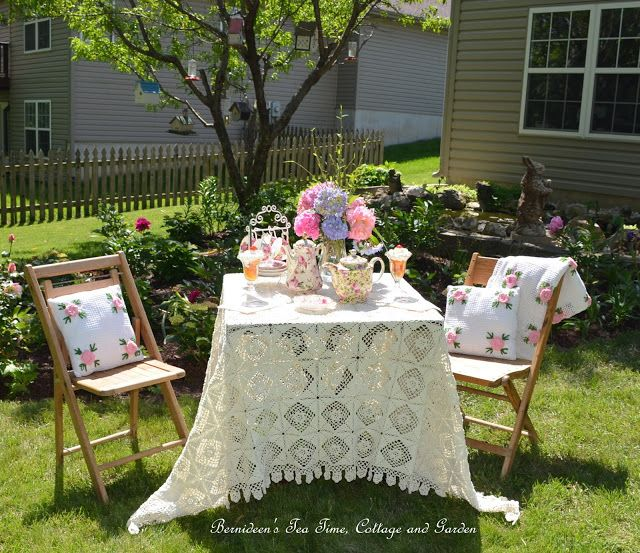 """Bernideen's Tea Time, Cottage and Garden: SOFT AND SWEET FOR """"Tea In The Garden"""""""