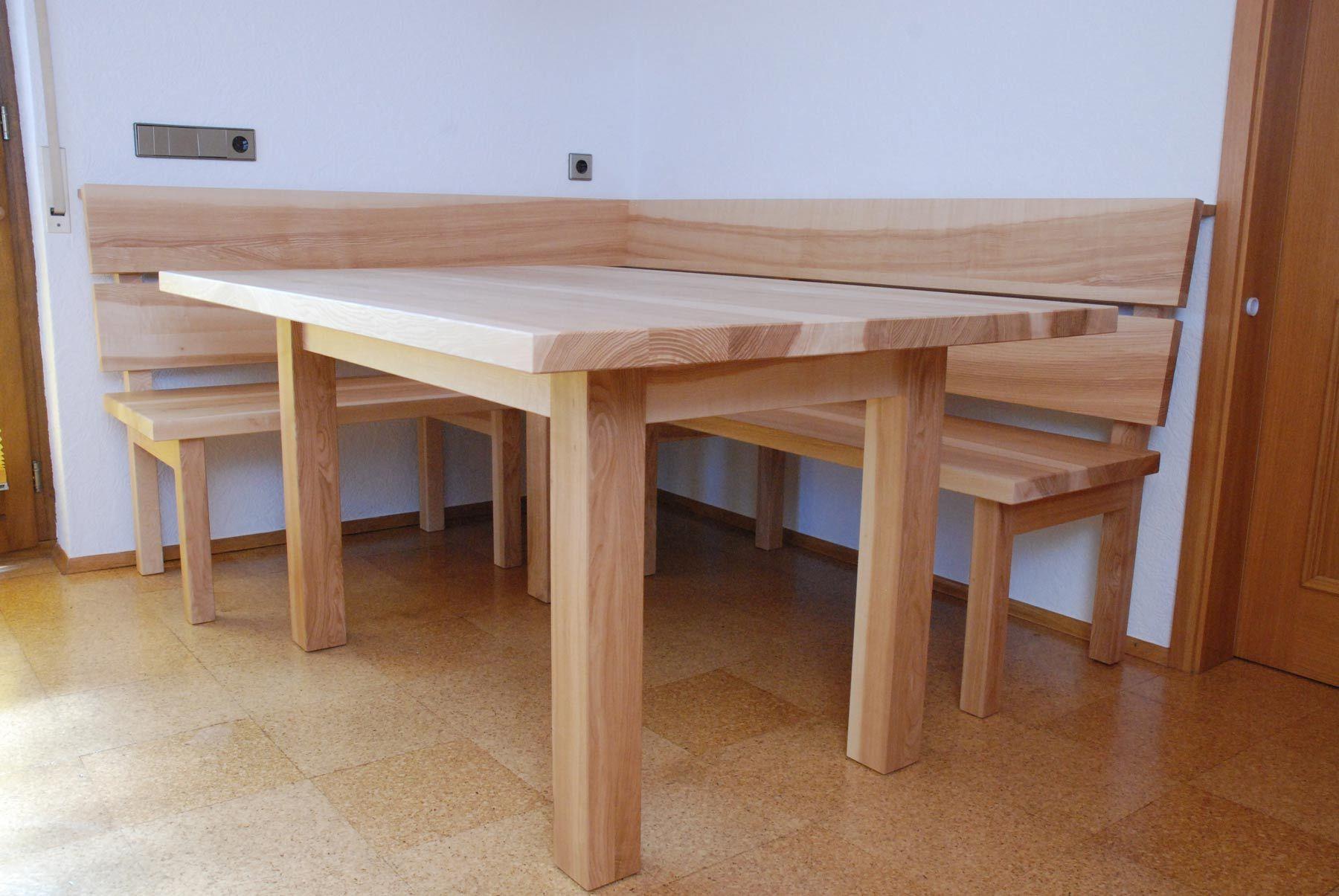 Tisch Und Bank Fur Das Esszimmer Aus Esche Haus Deko Kuchen Sitzgelegenheiten Eckbank Mit Tisch