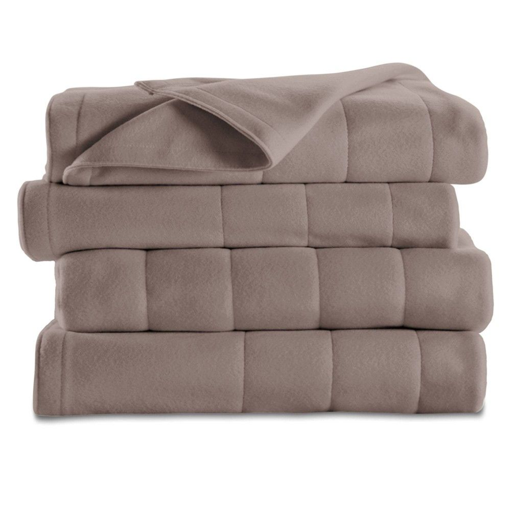 Sunbeam NEW HEATED ELECTRIC BLANKET Channeled Soft//Warm Fleece,Multiple Color