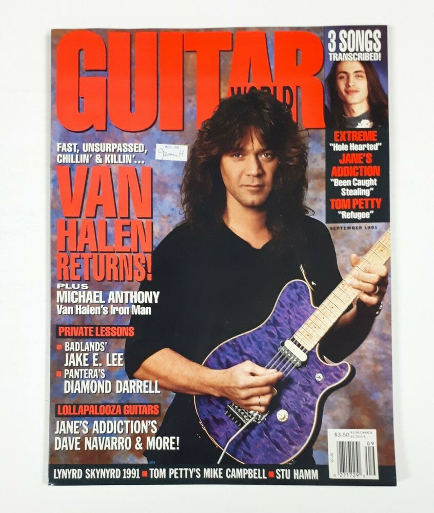Guitar World Magazine Vintage September 1991 Van Halen