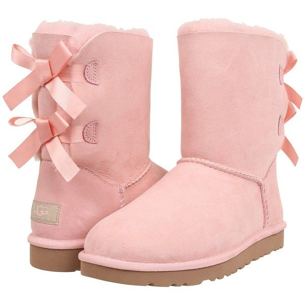 5525ce49ac2 UGG Bailey Bow Womens Boots, Pink ($126) ❤ liked on Polyvore ...