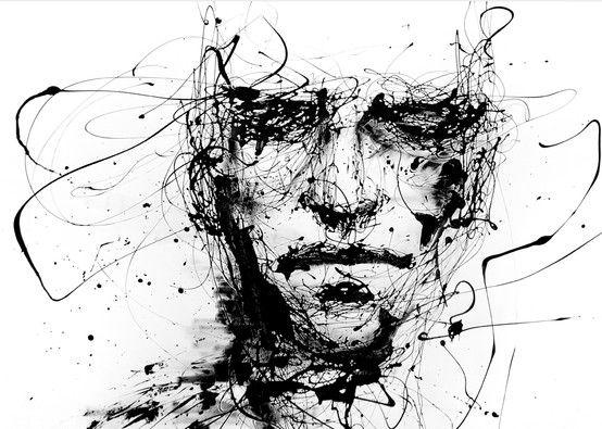 Inspiration peinture visage abstrait | Portrait