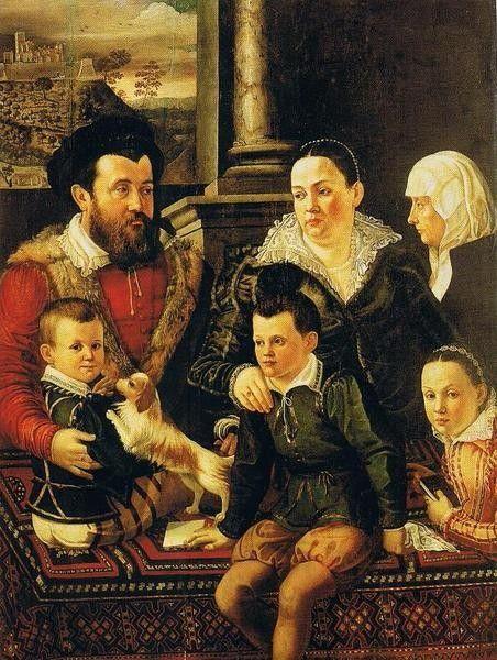 Jacopo da Empoli, Chimenti Family Portrait (2nd half of 16th century) - National Museum, Warsaw, Poland