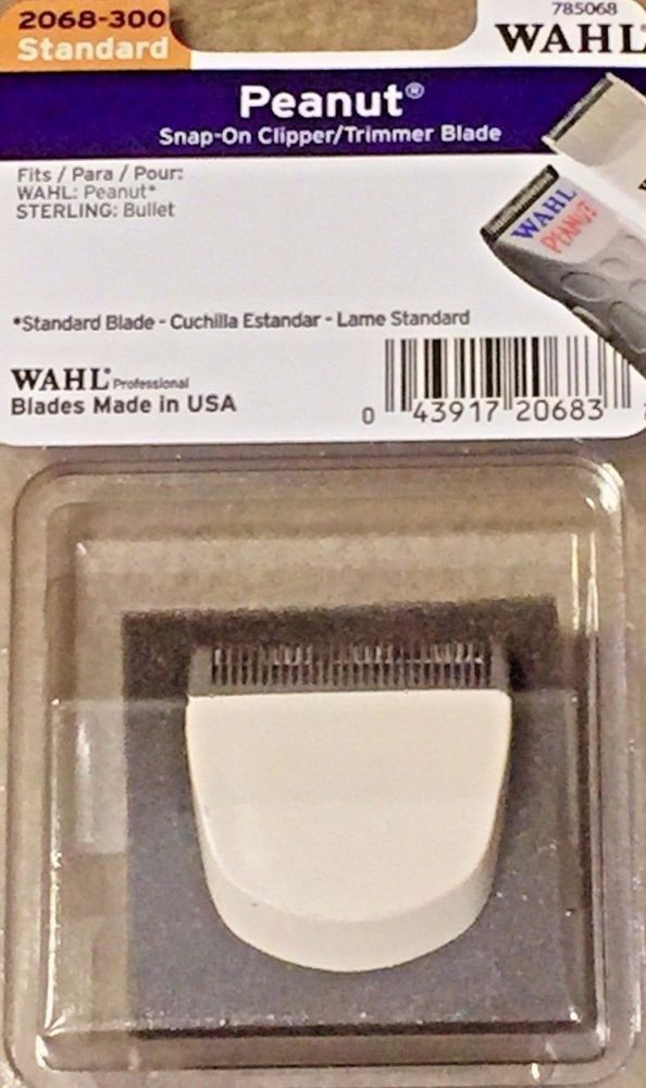 Wahl Professional Peanut Snap On Clipper Trimmer Blade 2068 300 Model 785068 Wahl Clippers Trimmers Wahl Trimmers