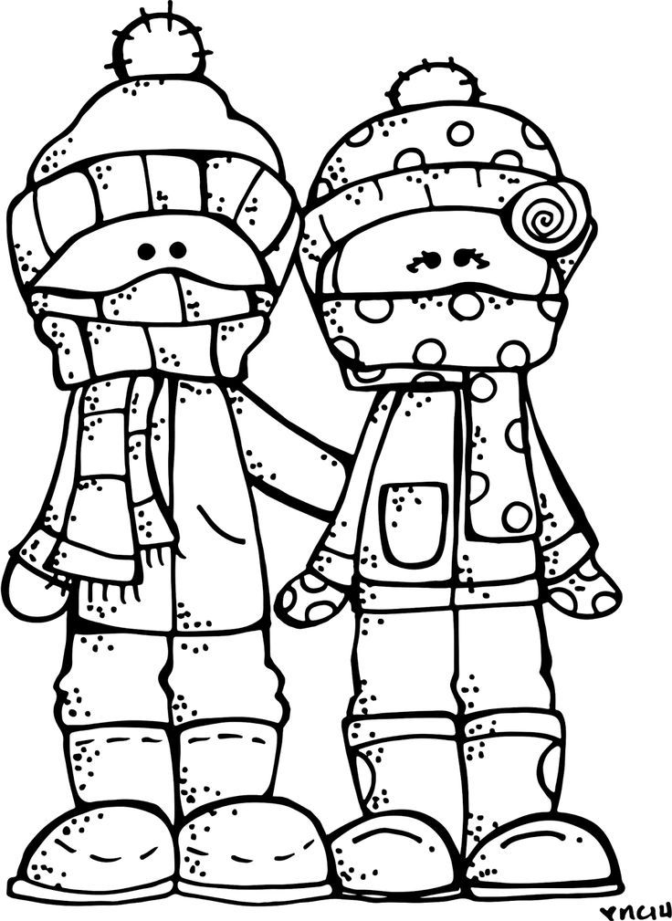 Free Printable Winter Coloring Page 4