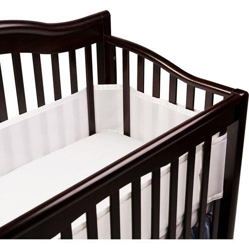 Breathable Baby Breathable White Mesh Crib Liner Walmart Com Crib Liners Baby Crib Bumpers Cribs