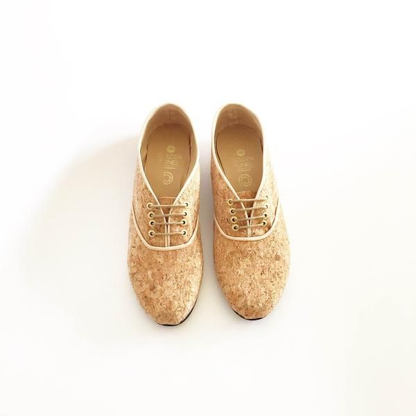 Pony Oxford Natural Cork | Vegan shoes