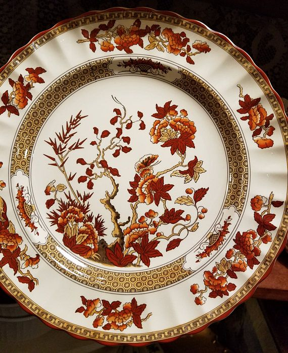 Spode  India Tree  made in England dinner plates 10.5  New backst&. & Spode