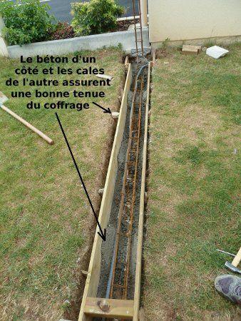 Faire soi-même ! - Pose d\u0027un portail - Réalisation de la semelle de - couler une terrasse en beton