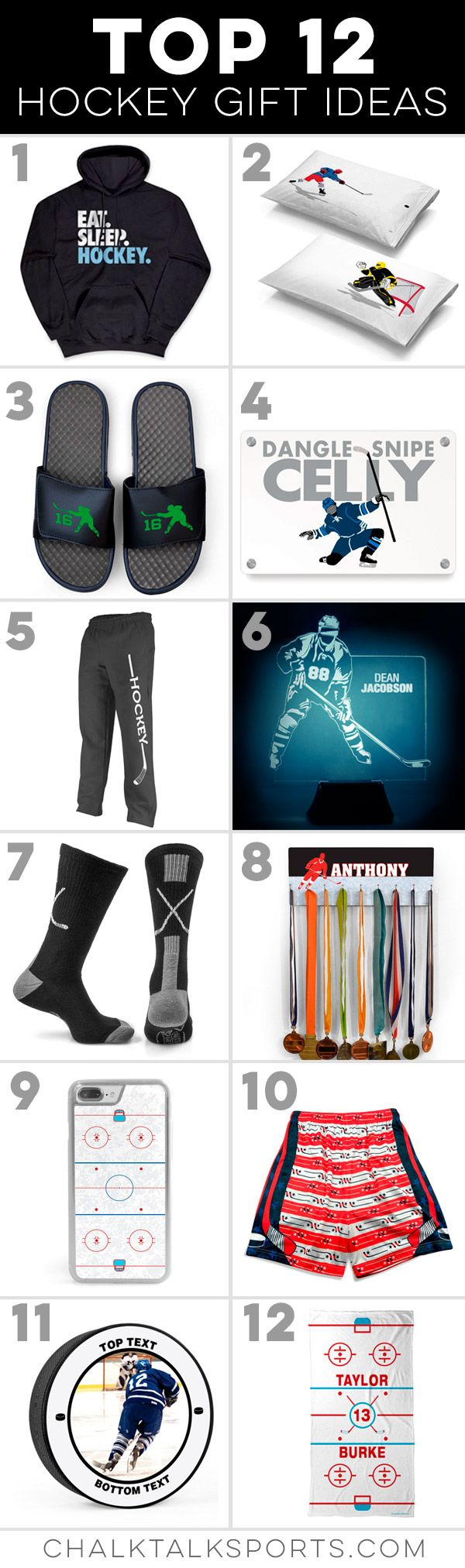 Our Top 12 Hockey Gift Ideas For Your Favorite Hockey Player Fan Or Team Gifts Perfect For Birthdays Holidays Or Hockey Gifts Hockey Team Gifts Hockey Kids