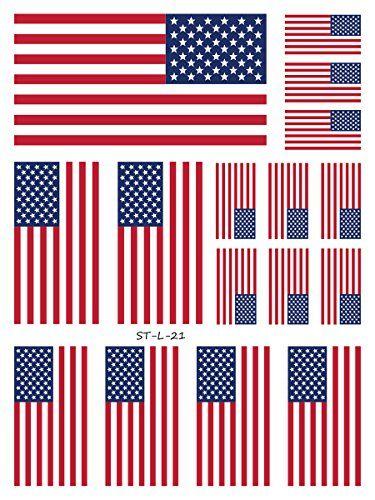 Henna Tattoo Kits For Kids: Supperb American Flag Temporary Tattoo Kit, USA Flag