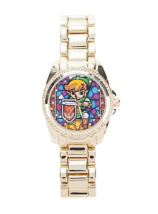 The Legend Of Zelda Link Stained Glass Watch,