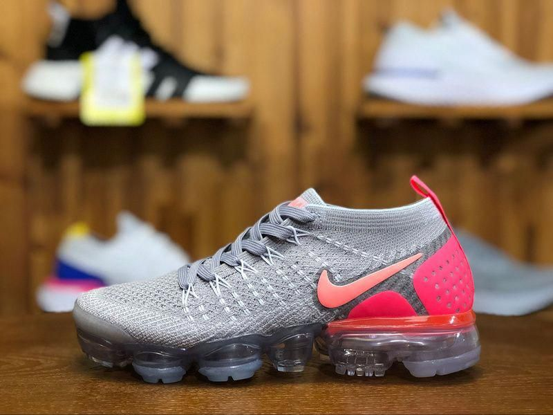 1431bb8d2733 2018 Nike Air Vapormax Flyknit 2.0 Womens Sneaker Pink Gray 942843-005   womenssneakers