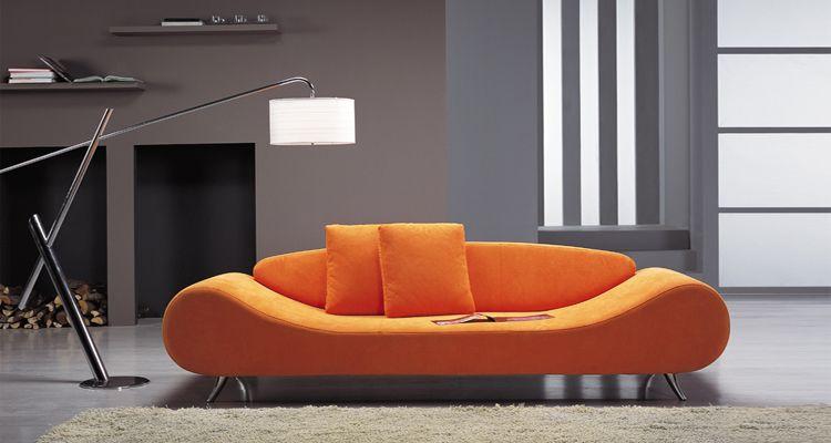 modern sofa design - Orange Couch