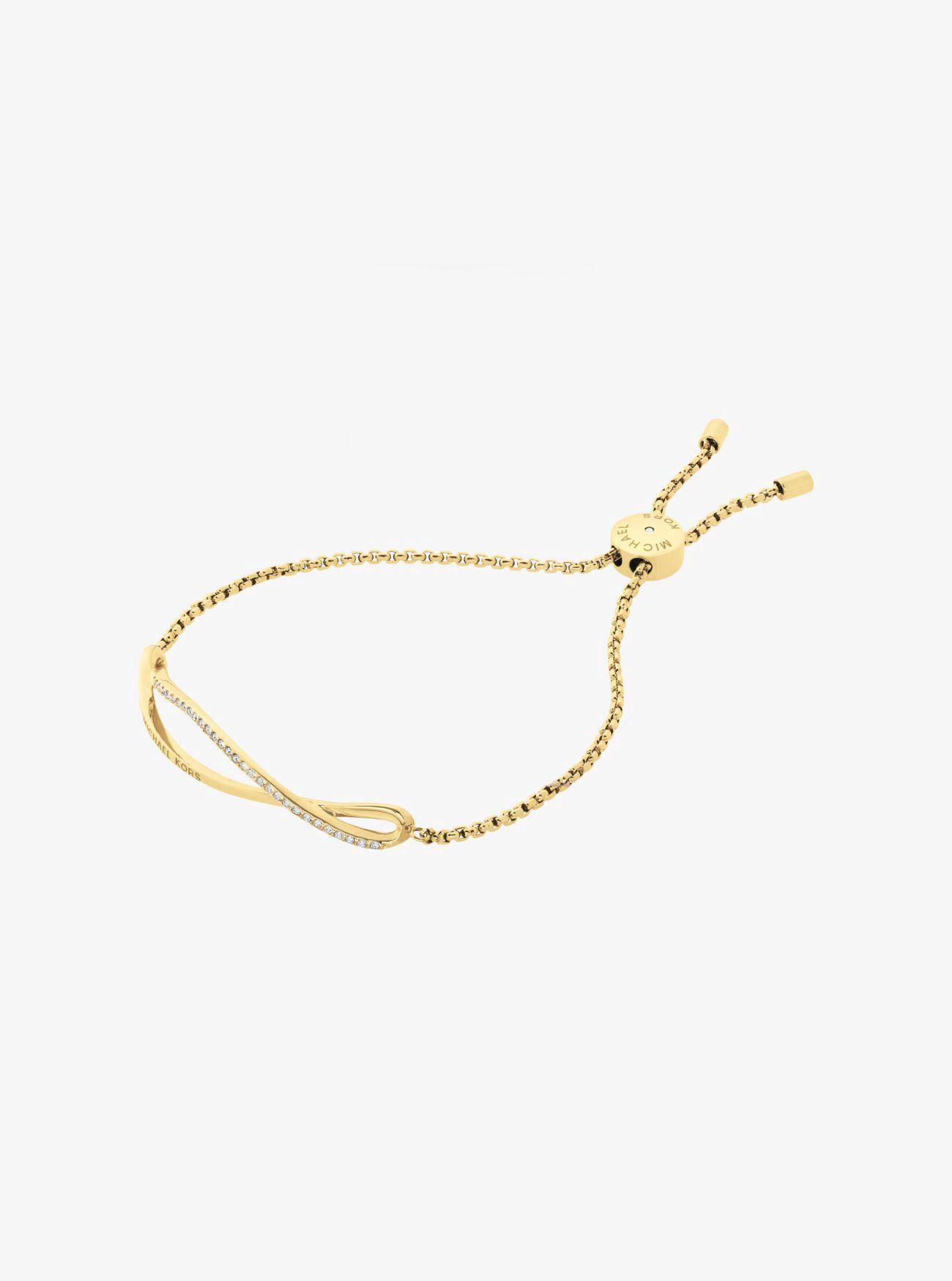 dac6c4205795 Michael Kors Pavé Gold-Tone Wave Slider Bracelet - Gold