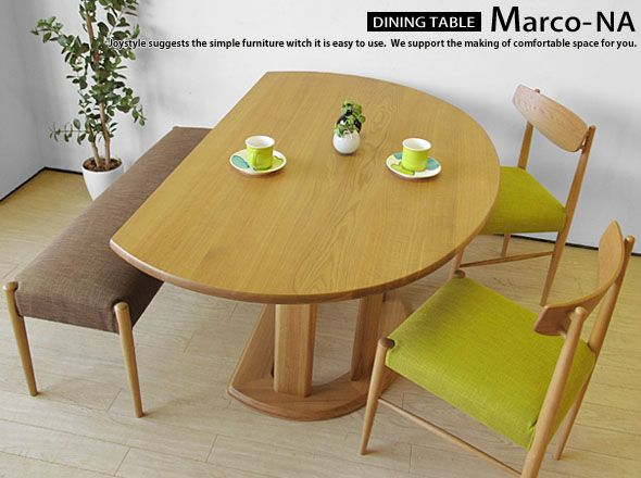 The Oak Wood Solid Natural Width 135 Cm 150 Half Round Table Counter Dining Marco Na Chairs Sold Separately