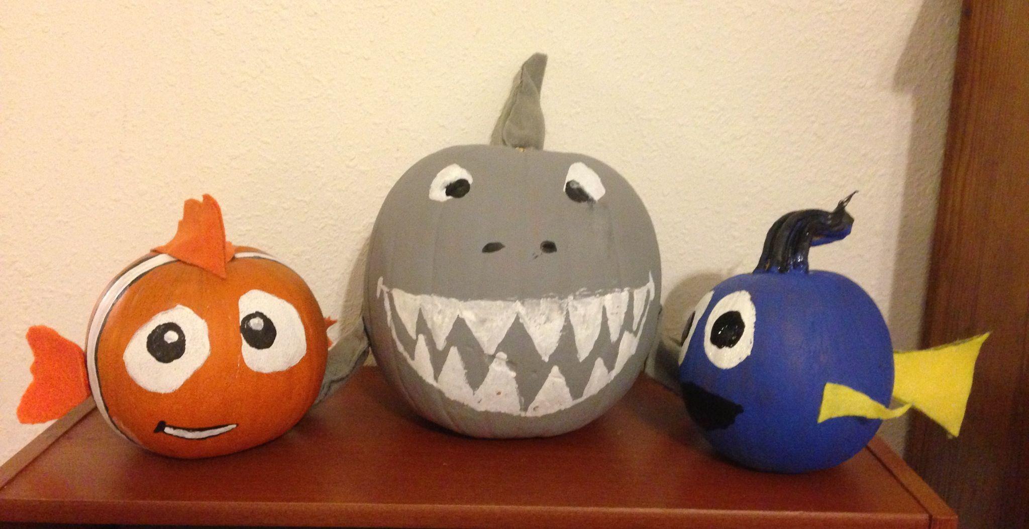 Nemo, Brucey & Dory Pumpkins! | Holidays | Pinterest | Holidays ...