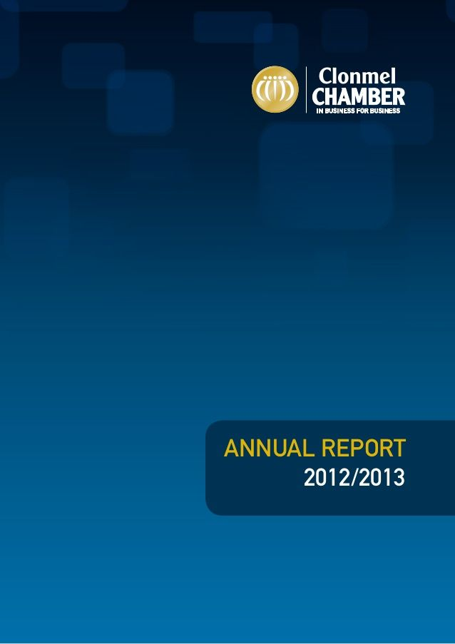 Sample Annual Report From The Clonmel Chamber Of Commerce