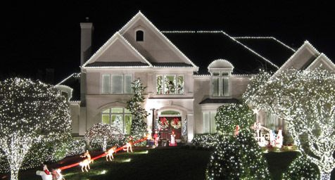 Outdoor Christmas Lights Ideas For The Roof Christmas Lighting