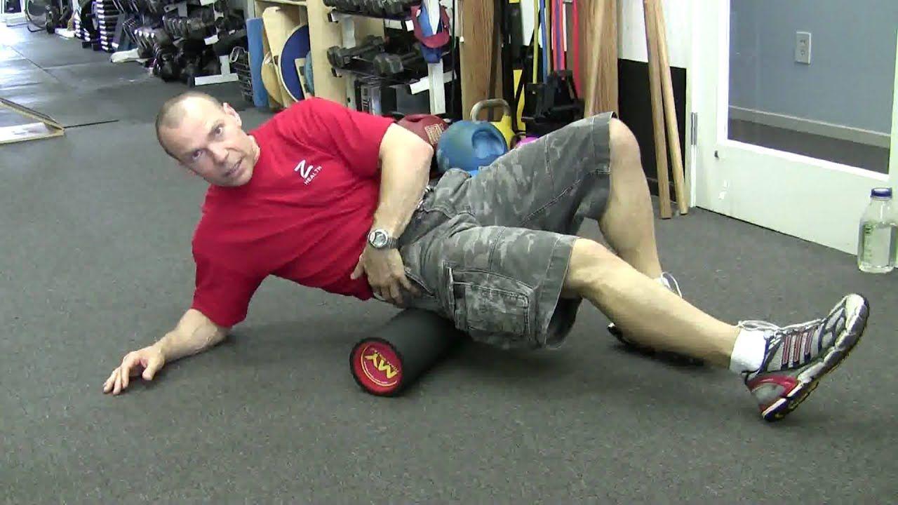 How to foam roll the hip rotators using My Foam Roller