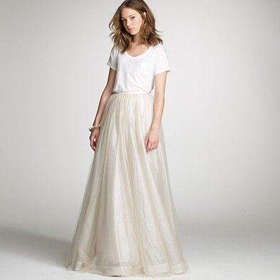 Does anyone want to explain to me why this wedding dress costs crew wedding tulle paget skirt and cotton t shirt junglespirit Images