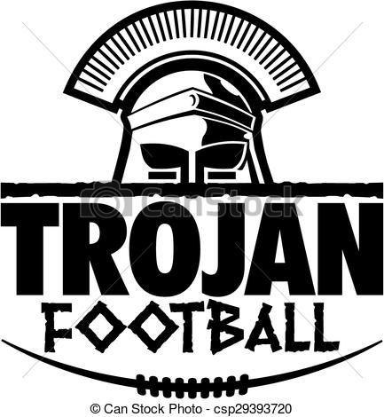 Vector Illustration Of Trojan Football Graphic Trojan Football