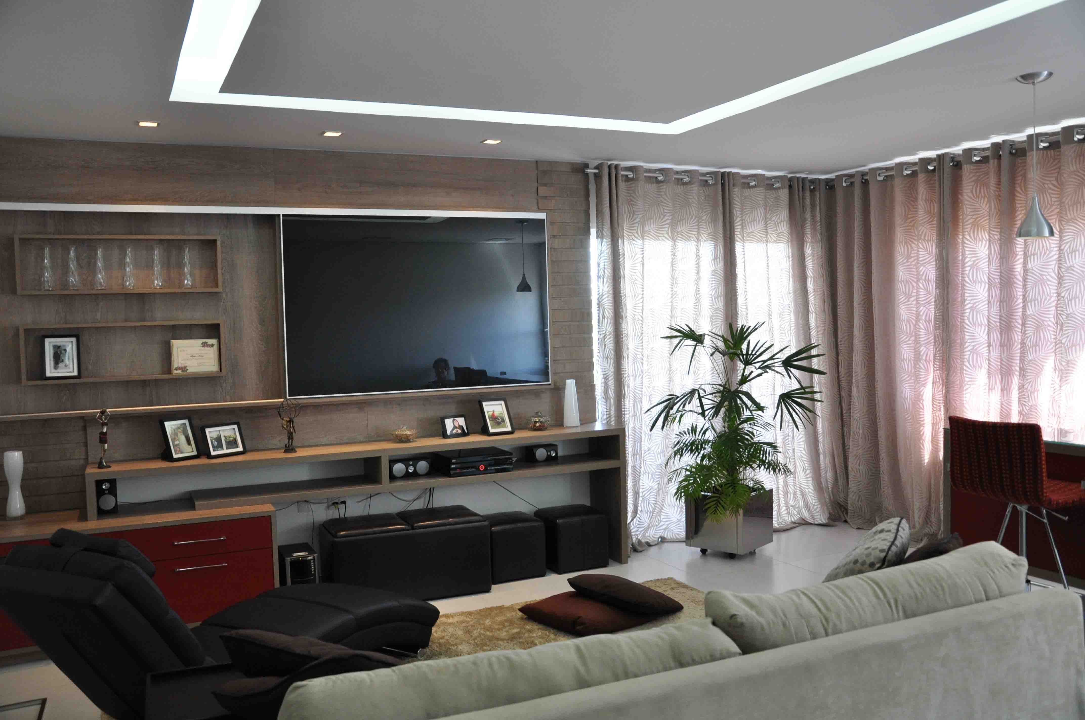 Sala de tv salas pinterest - Sala home cinema ...