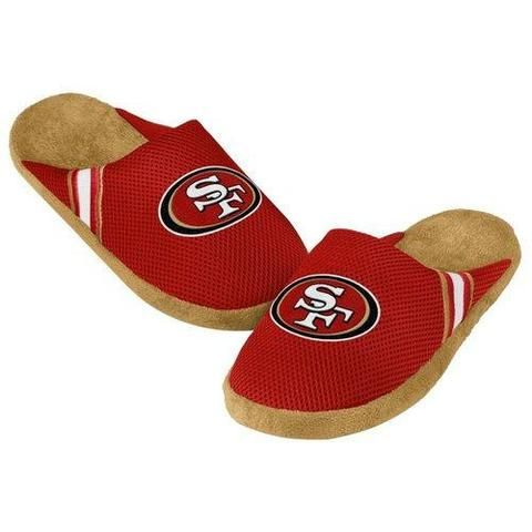 f9f3805cc53 NFL San Francisco 49ers Jersey Slippers  Men s X-Large - 13-14 US ...